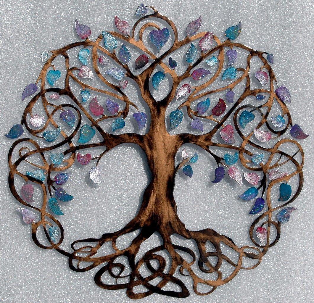 teal sparkle leaf 28 inch diameter tree of by. Black Bedroom Furniture Sets. Home Design Ideas