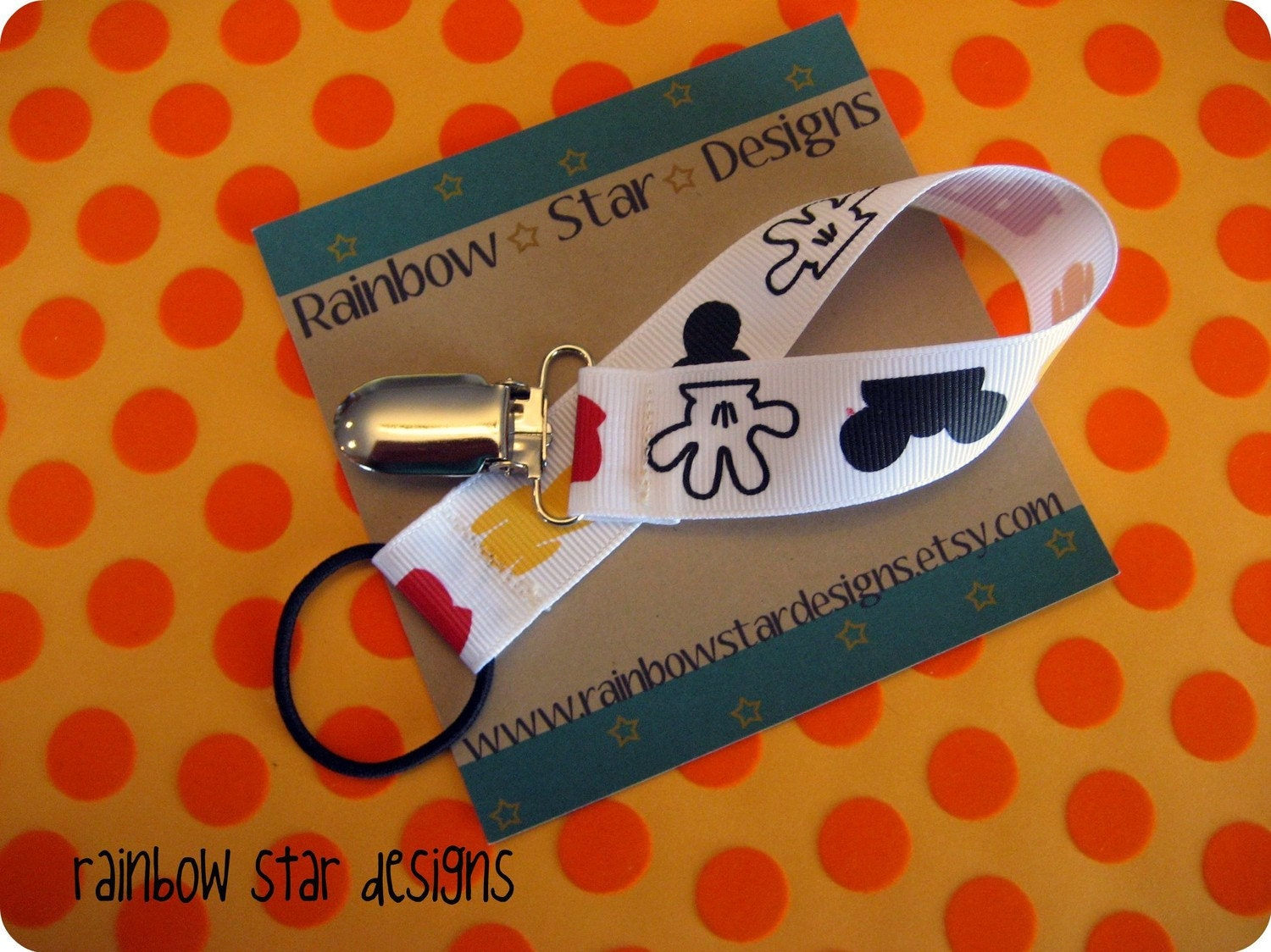 Mickey Mouse Pacifier Holder, Toy Holder