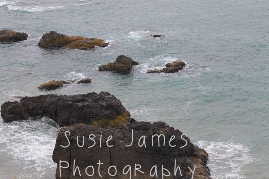 Original Photography Print, Rocky Ocean 8x10, 11x14, 16x20 print - ORCoastalPrints
