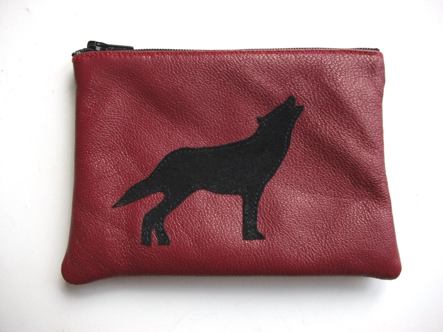 Red Wolf Coin Purse