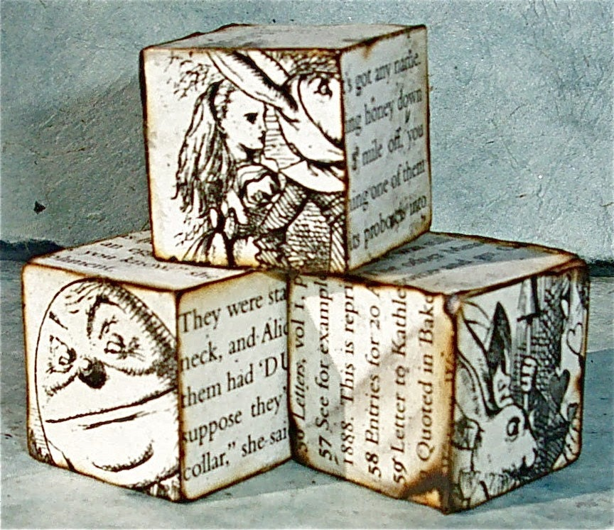 Alice in Wonderland Small Blocks Trio (Series VII)