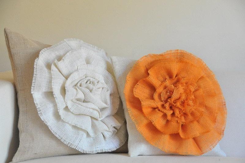 Burlap throw pillow cases 14x14