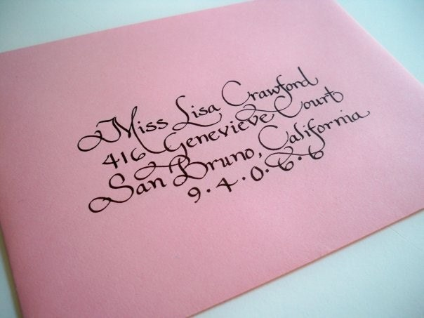 Items Similar To Hand Addressed Envelopes In Calligraphy