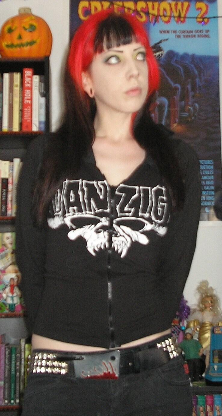Custom DANZIG Hoodie Skull Heavy Metal Punk Goth by HellCouture