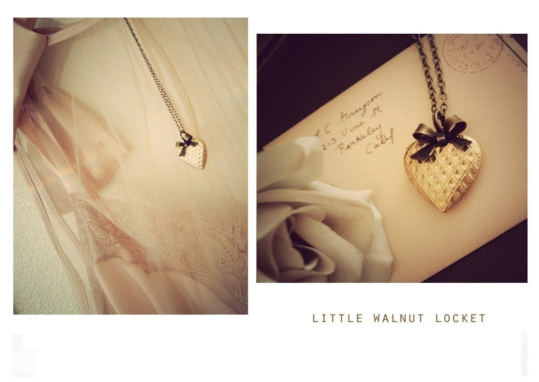 little  walnut  locket  .