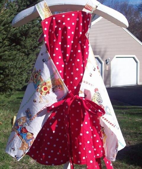 Carousel Apron Dress size 3 4