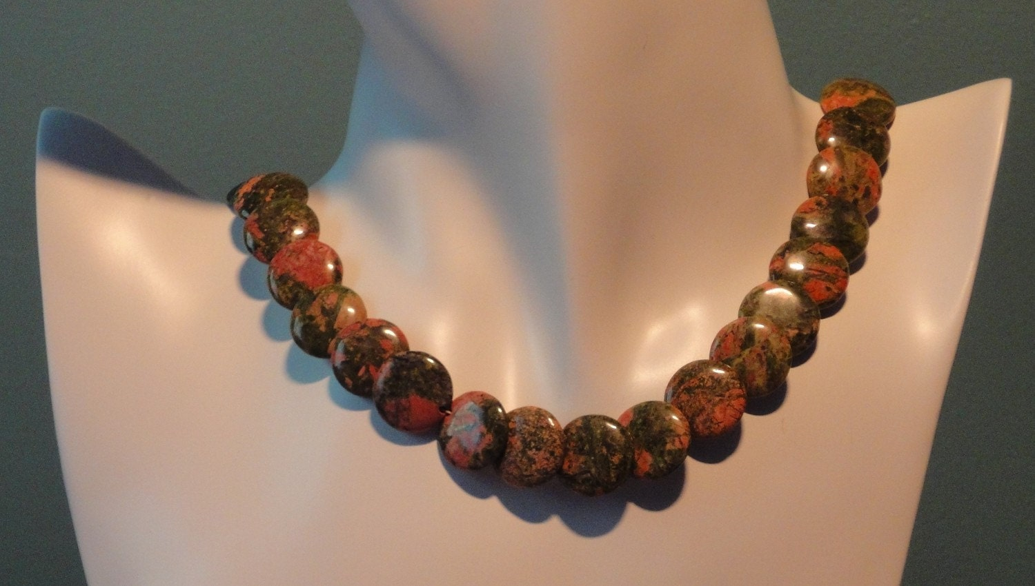 Unakite Coins by designedbyval on Etsy from etsy.com