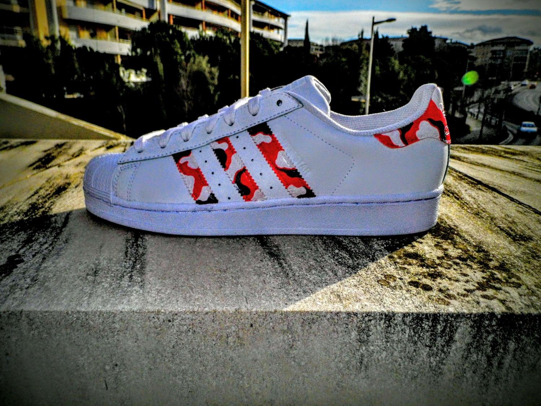 Adidas SUPERSTAR Camo Bape CUSTOM By SlashCustomSneakers On Etsy Free Shipping