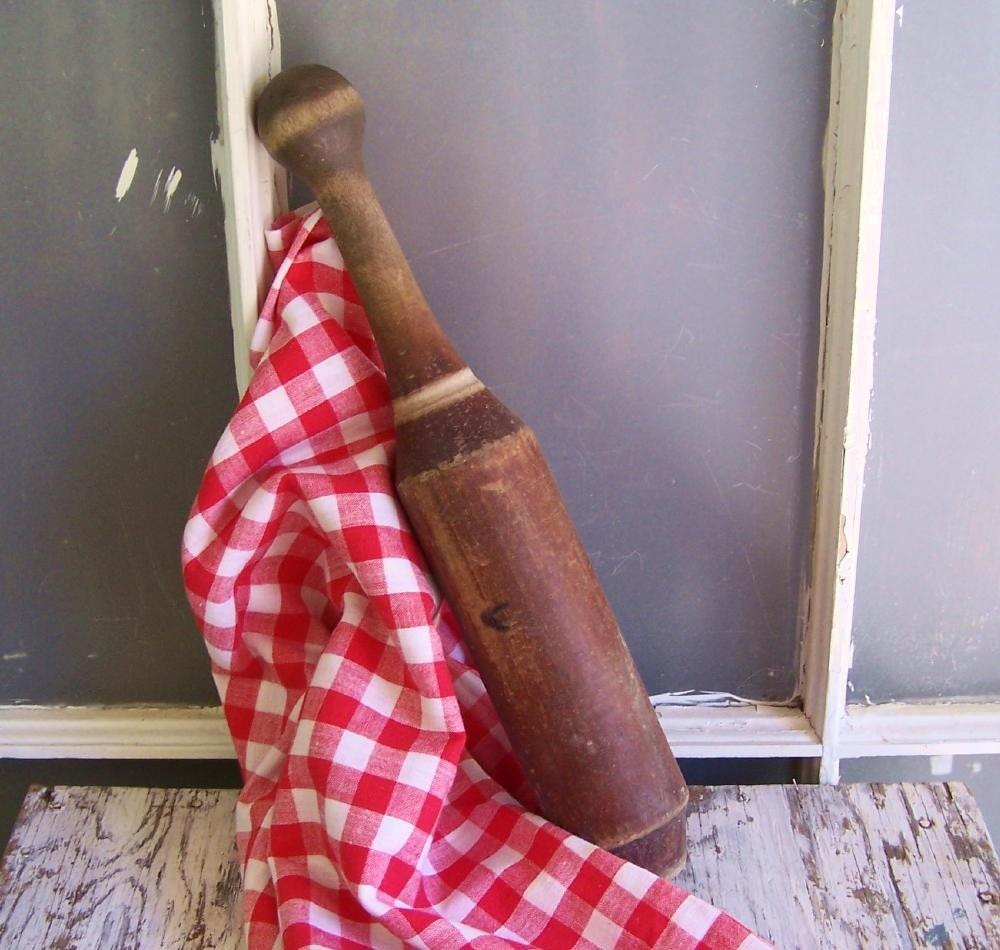 Old Wooden Kitchen Masher