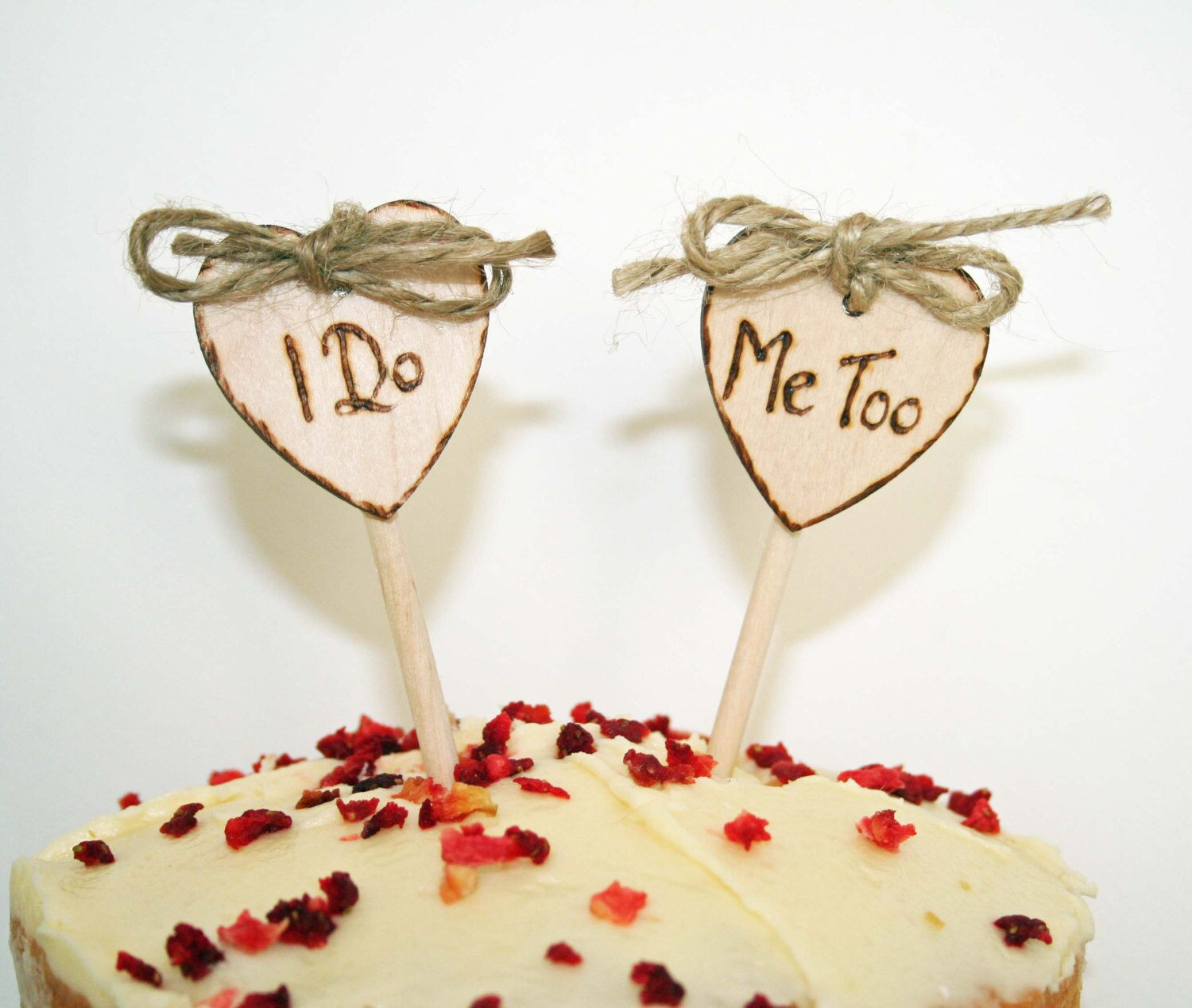Personalised Rustic Cake Toppers I Do Me Too cake topper Small cake toppers