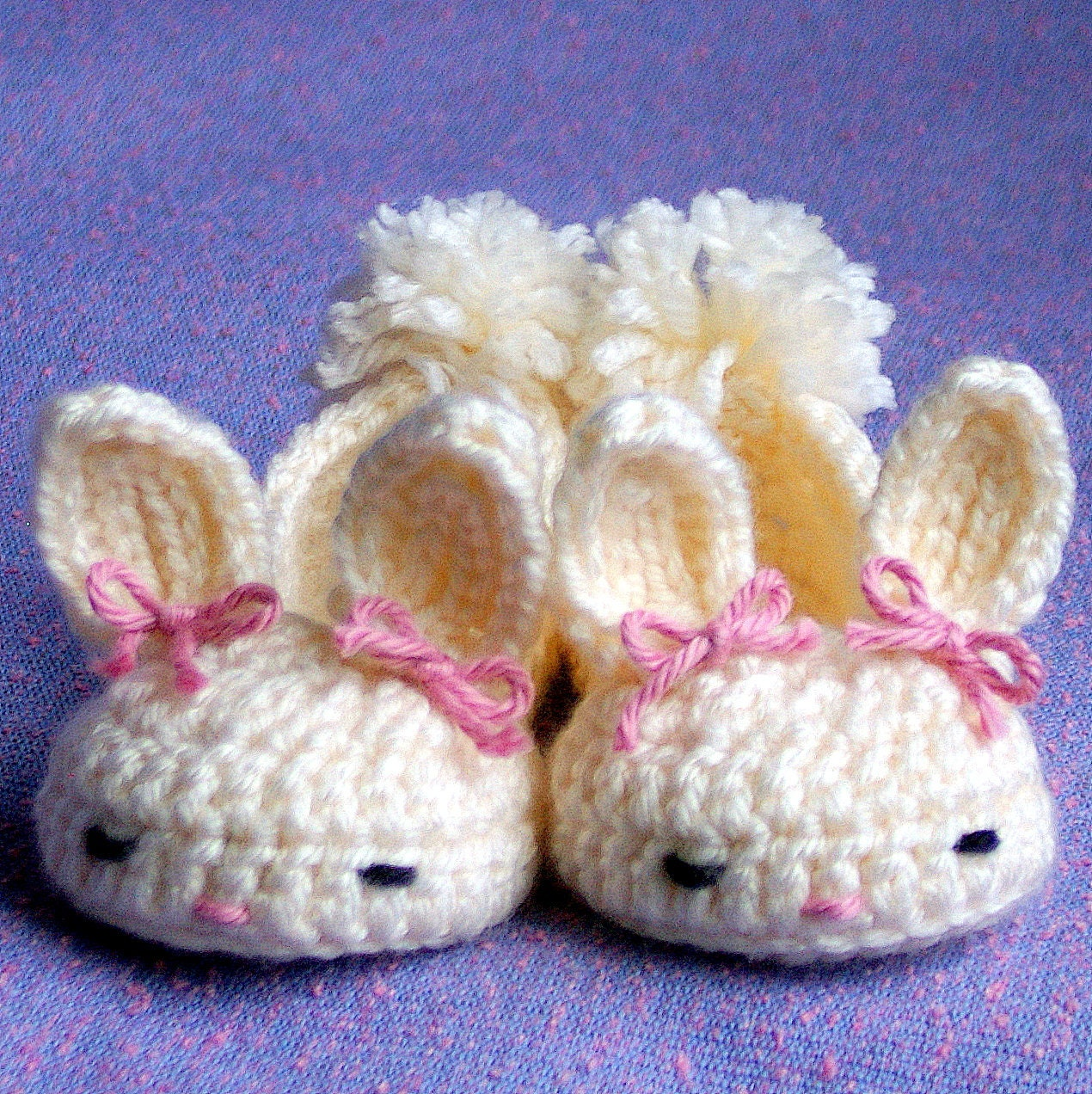 Ravelry: Fluffy Bunny Slippers pattern by Shannon Murphree