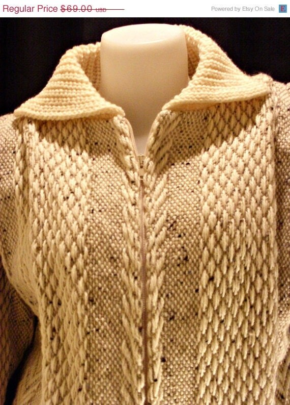 Knitting Websites Ireland : On sale vintage irish knit sweater coat by vendagetresors