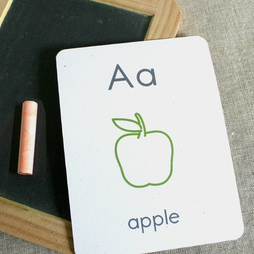 Etsy :: small alphabet flash cards - printable pdf