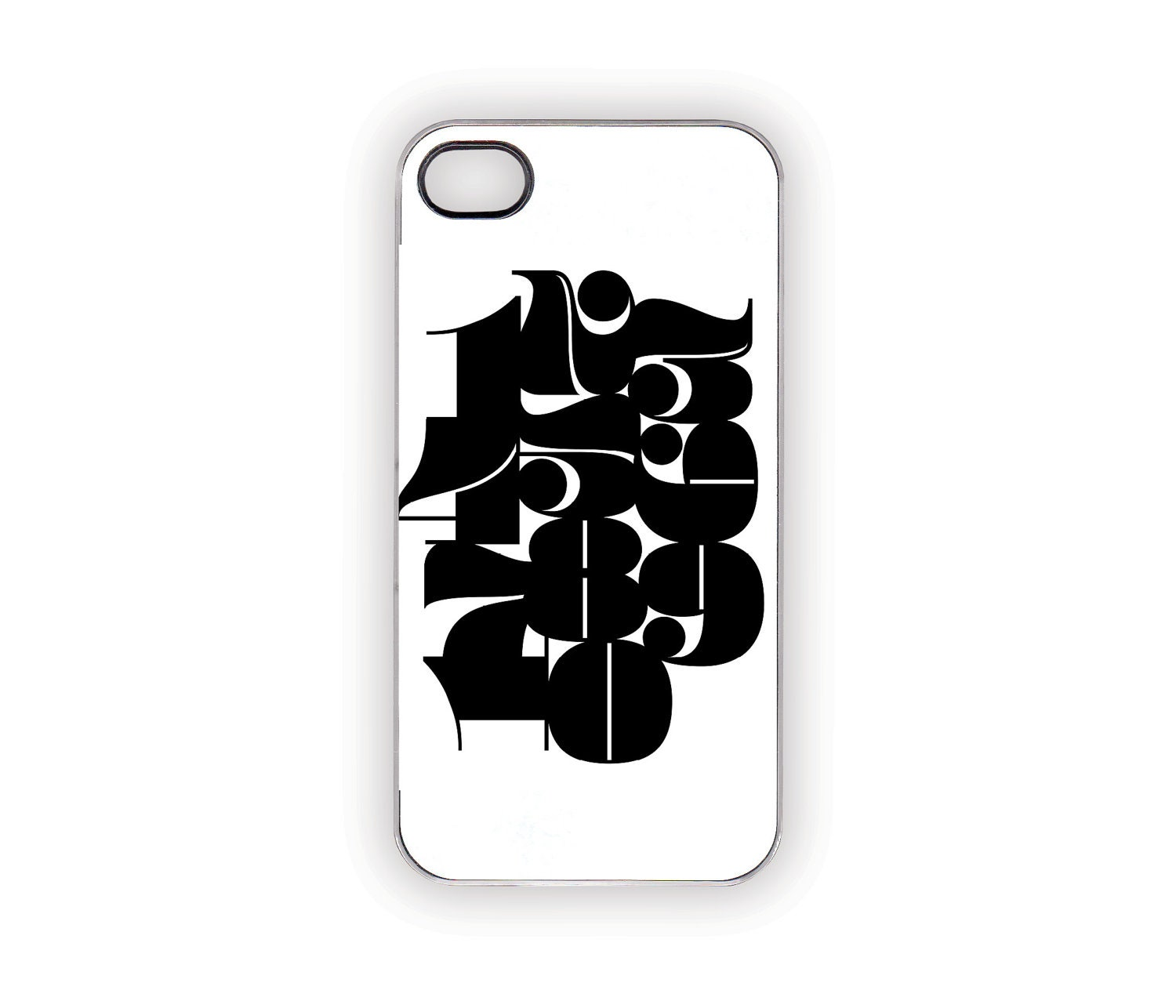 Items similar to mod numbers iphone case 5s 5 4s 4 for Case modello moderne