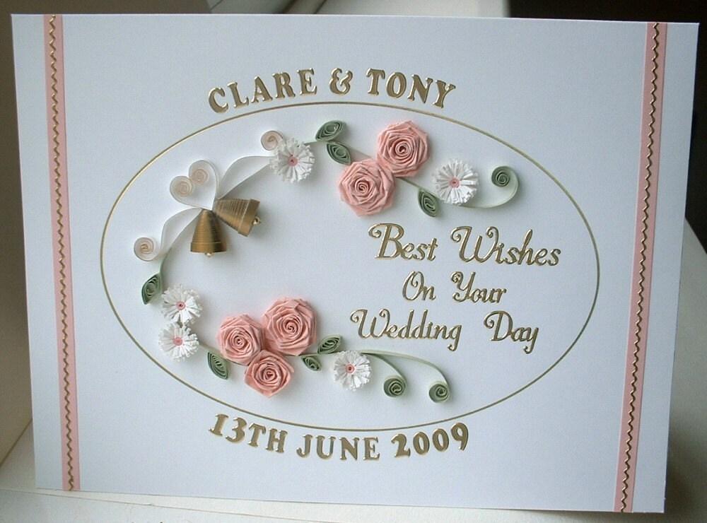 Гофрированный карты свадьбы, поздравления, открытки ручной работы, персональный имена и даты