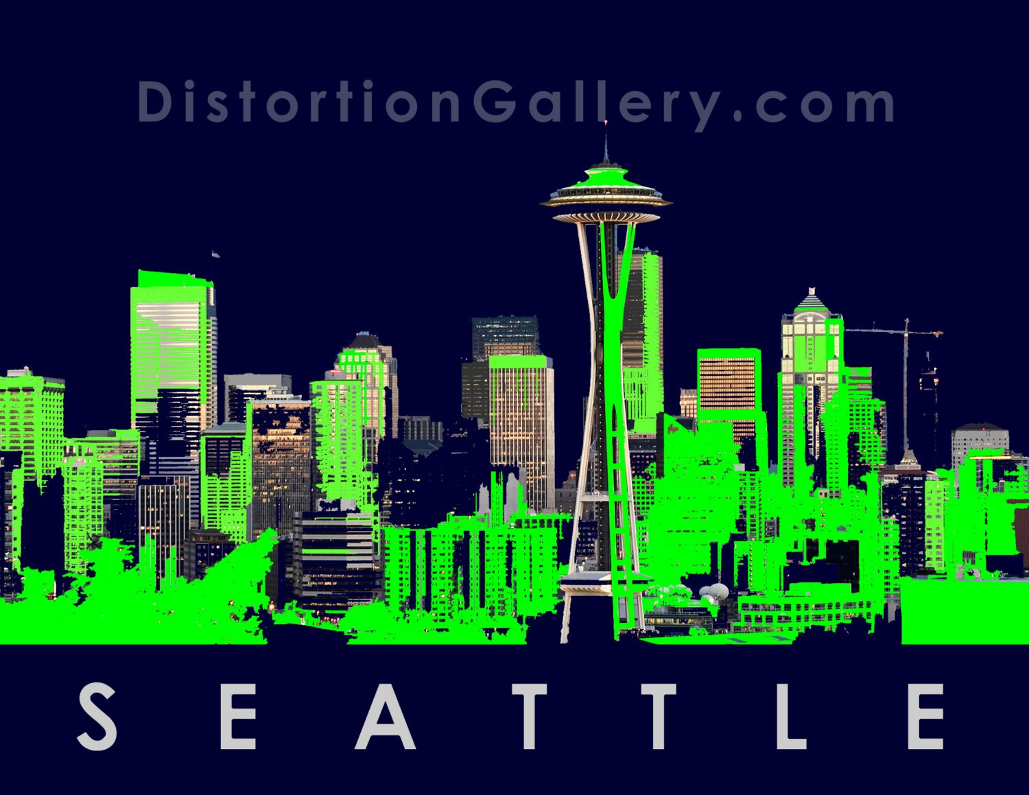 Seattle Seahawks Skyline Art Seattle seahawks skyline 8x10