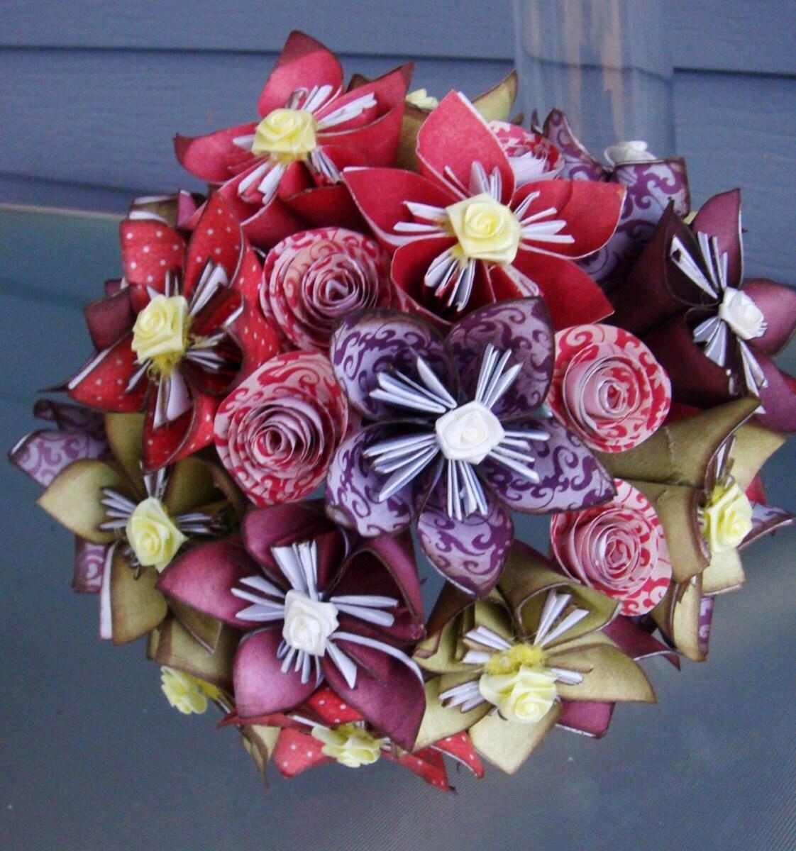 Как сделать букет цветов из бумаги своими руками оригами фото