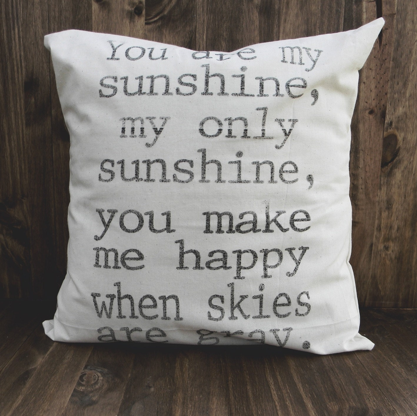 You Are My Sunshine 16 x 16 Pillow Cover, home decor, family gift, new family, house warming, bedroom decor, kids gift