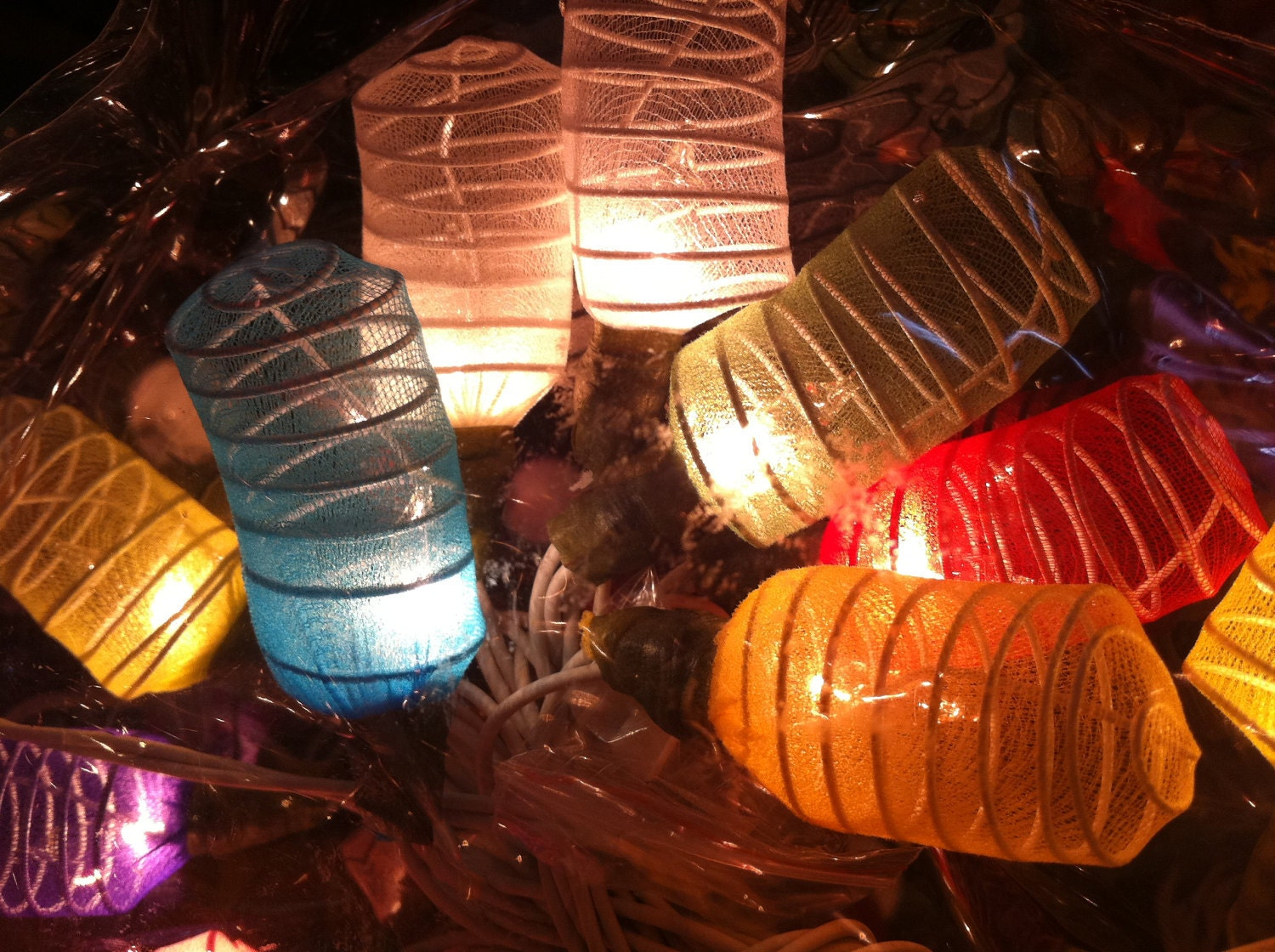 20 X Mix Color Cocoon Shape Handmade Lantern String By