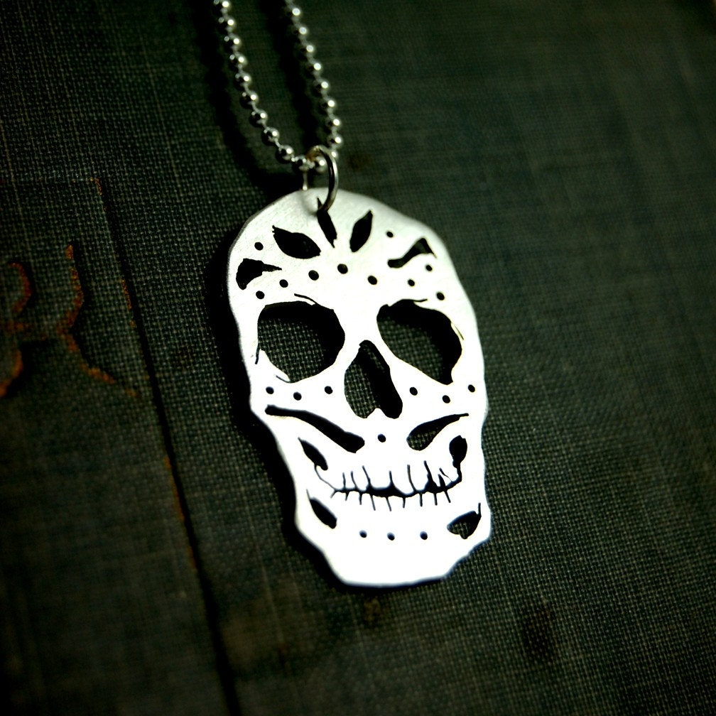 Sterling Silver Eerie Skull Pendant by Markhed