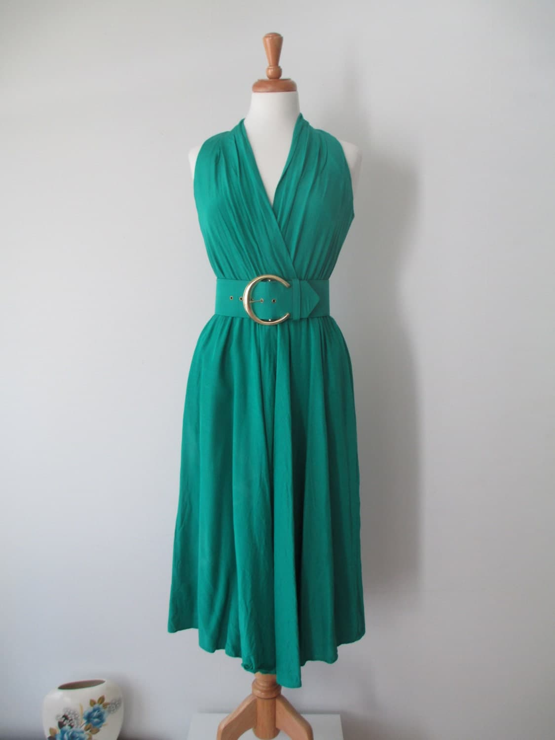 The Green Dirty Dancing Dress Small - LucyBlueVintage