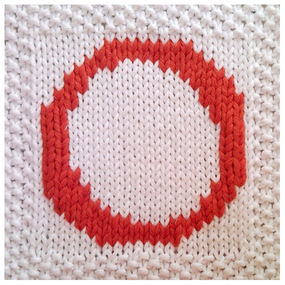 PDF Knitting pattern capital letter O afghan / by FionaKelly