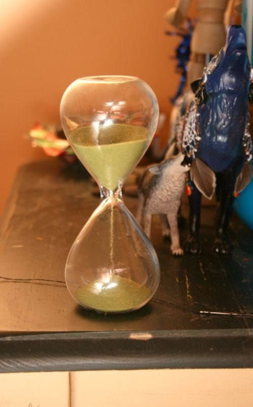 5 Inch Hourglass with Green Sand - SALE