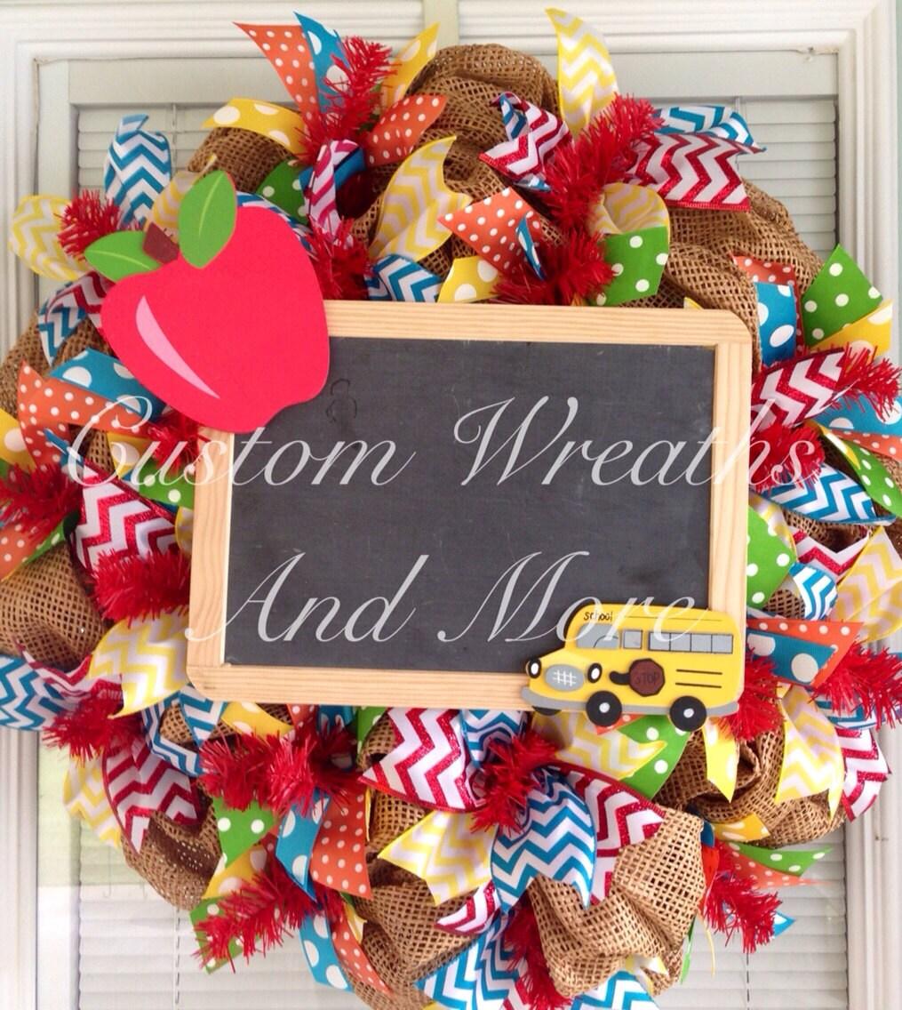 Classroom Decor Etsy ~ Teachers wreath for classroom by customwreathsandmore on etsy