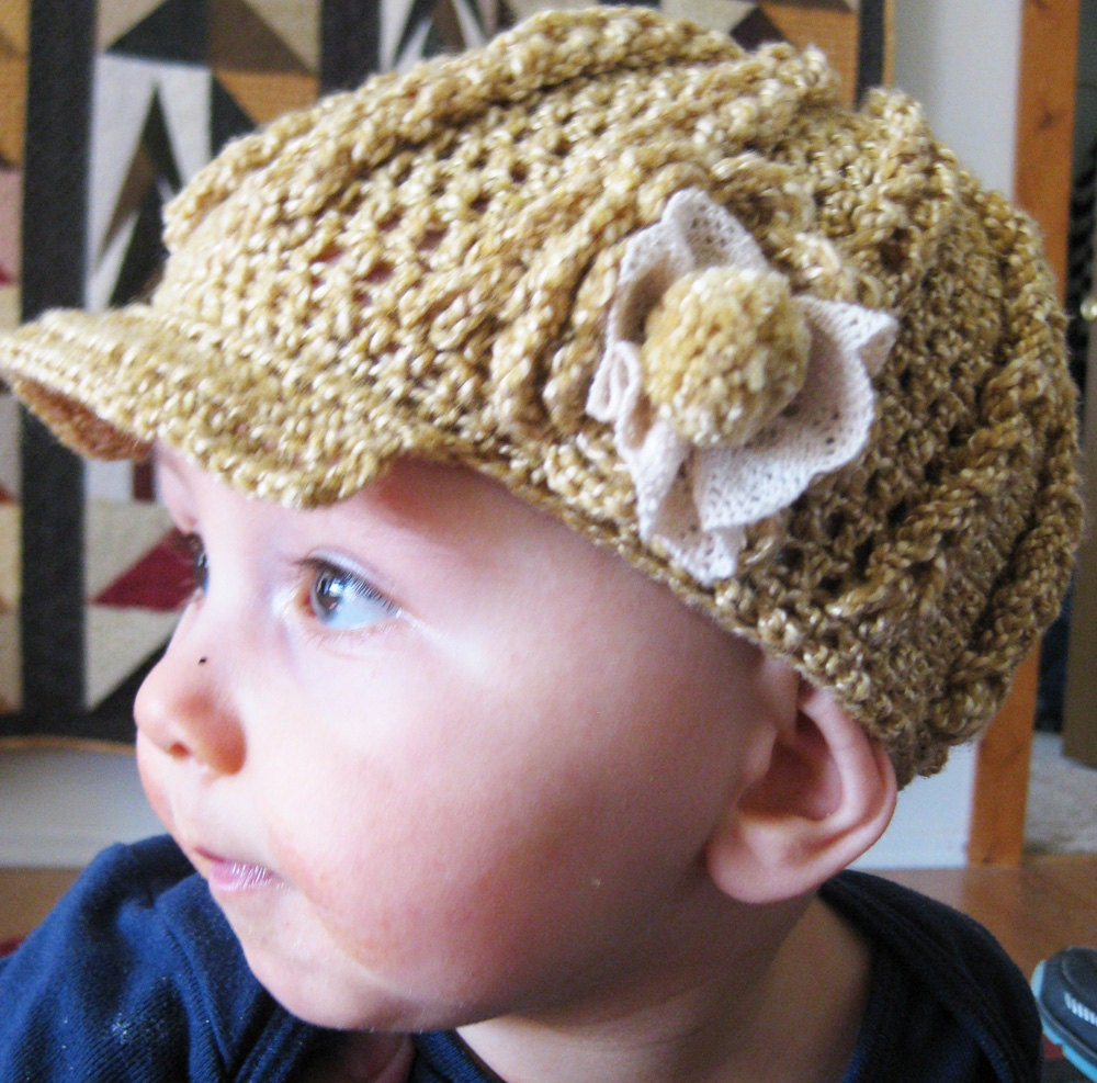 Crochet Pattern Brim and Cables Baby Hat 0-3 3-6 by ...