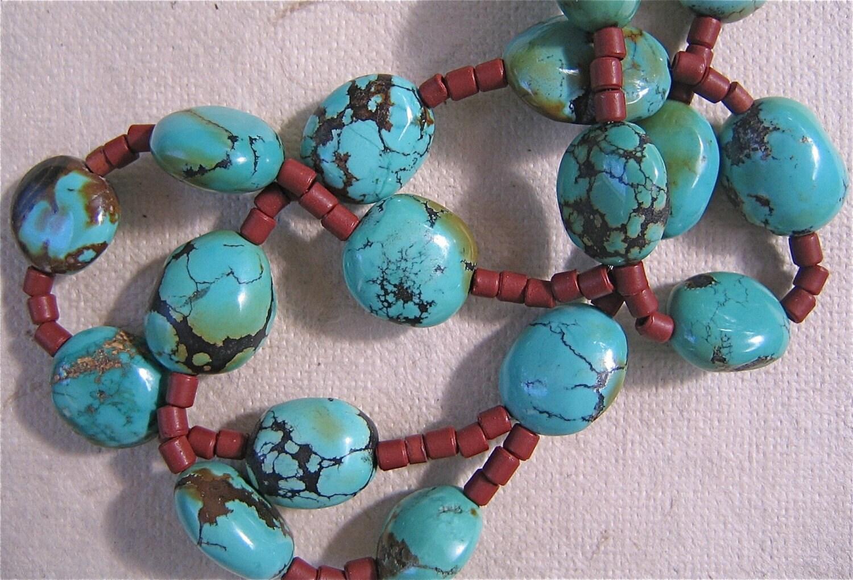 Beautiful Matrix Turquoise Necklace