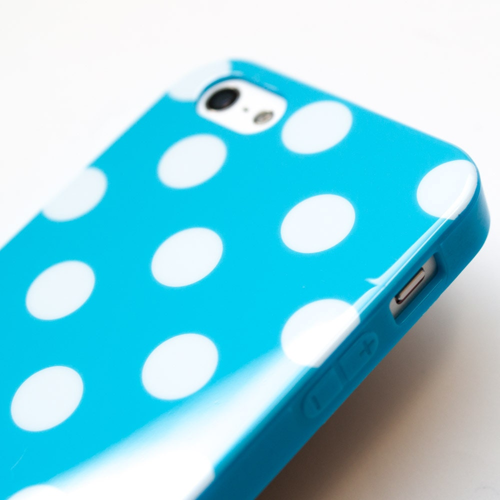 Baby Blue iPhone 5 Case,  Polka Dot iPhone 5 cover