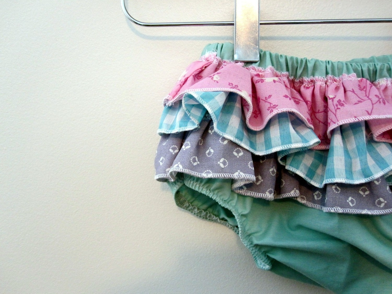 Mermaid Princess  -wrap around ruffle diaper covers