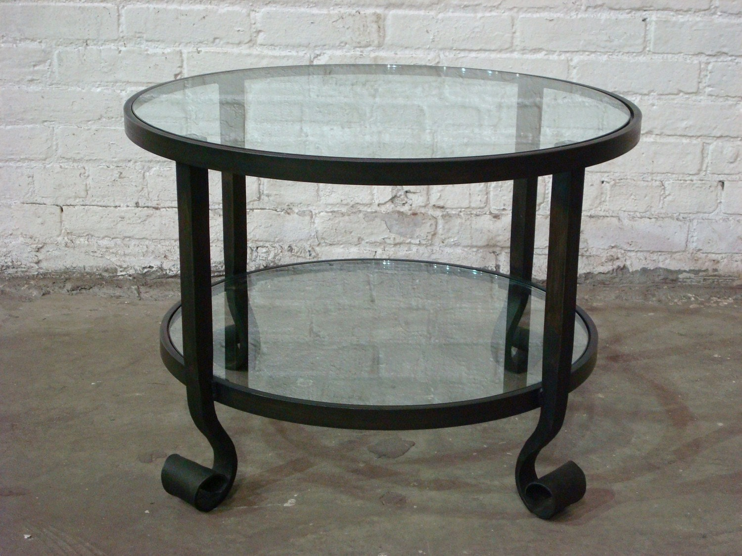 24 Inch Round Lamb Tongue Coffee Table By Surthrival On Etsy