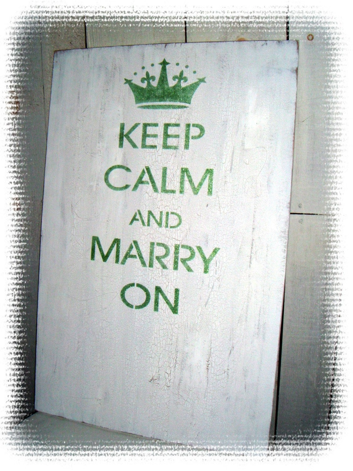 "LARGE Wedding Guest Book Wooden Sign - "" Keep Calm and Marry On "" - Fun take on the ever popular British saying ""Keep Calm and Carry On"" - Unique and fun Guest Book - Your wedding colors - Large 24 x 36"" - Personalized,Customized"