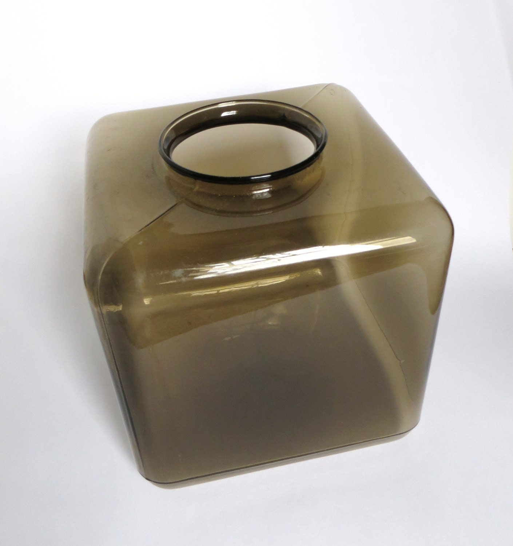 Vintage Square Cube Light Globe Brown Glass By Iprefervintage