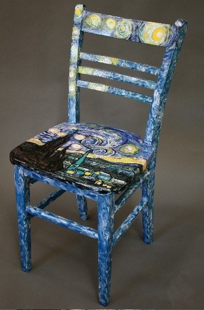 hand painted wooden kitchen chair starlight by by