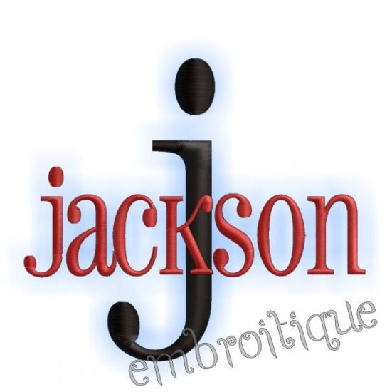 Jackson Monogram Alphabet Font Great For Boys And By