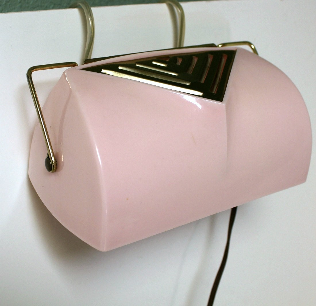 vintage pink chic headboard light lamp reading bedroom eames bed mount. Black Bedroom Furniture Sets. Home Design Ideas