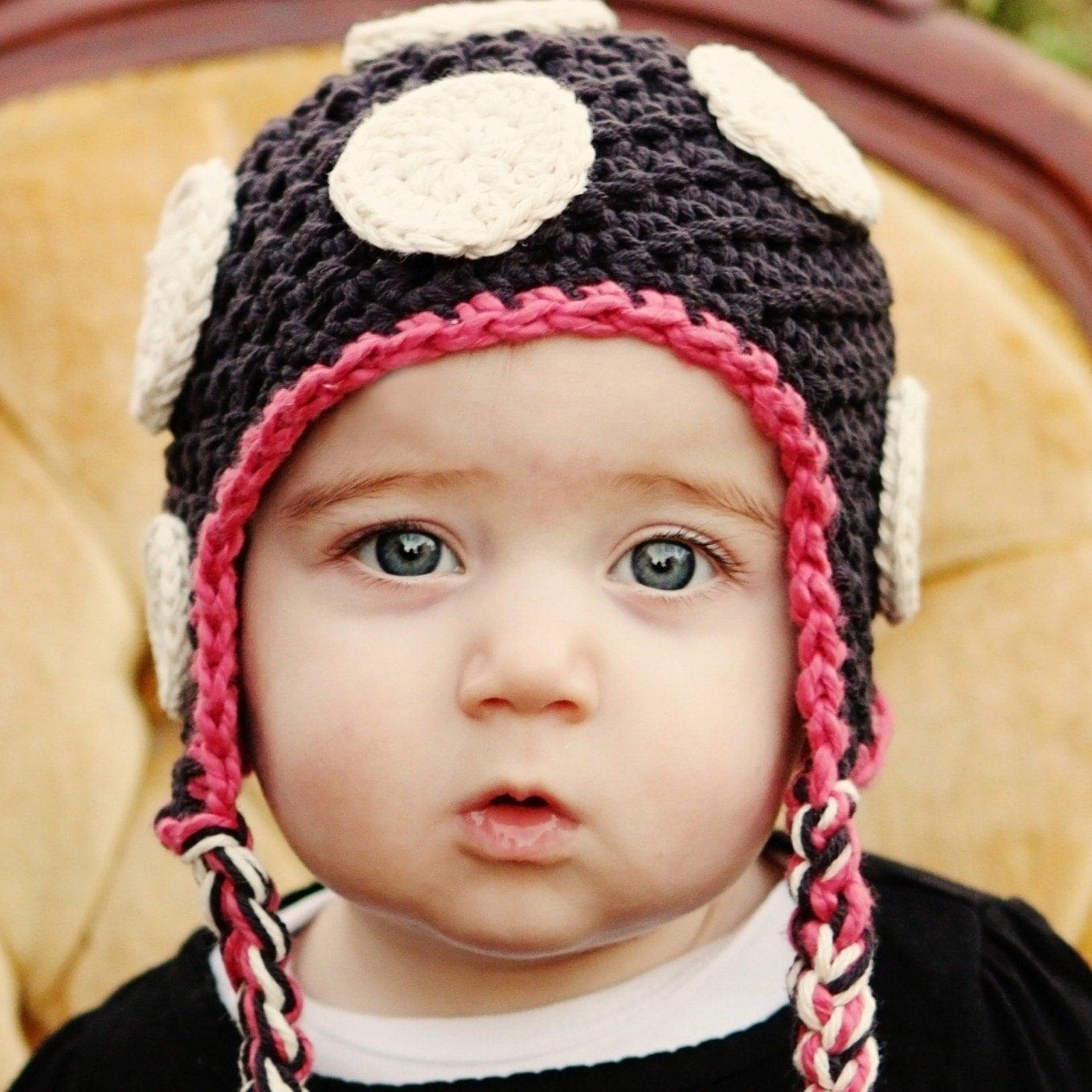 Вязаный горошек уха заслонки Beanie Пользовательские цвета новорожденных до 12 месяцев Вы выбираете размер