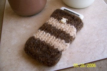 sweetpeaknits's Etsy Shop - Got Moosic iPod Cozy from etsy.com