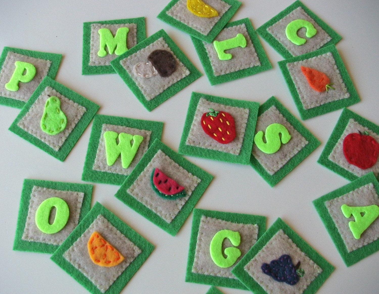 """Memory Game- """"Garden ABC's"""""""