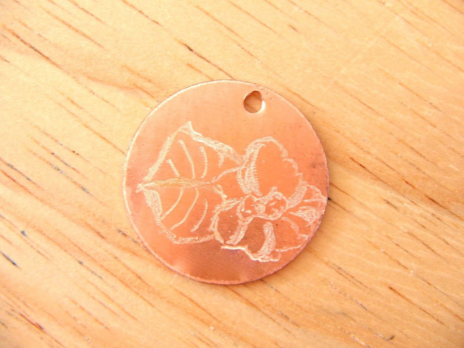 Primrose Engraved Copper Tag