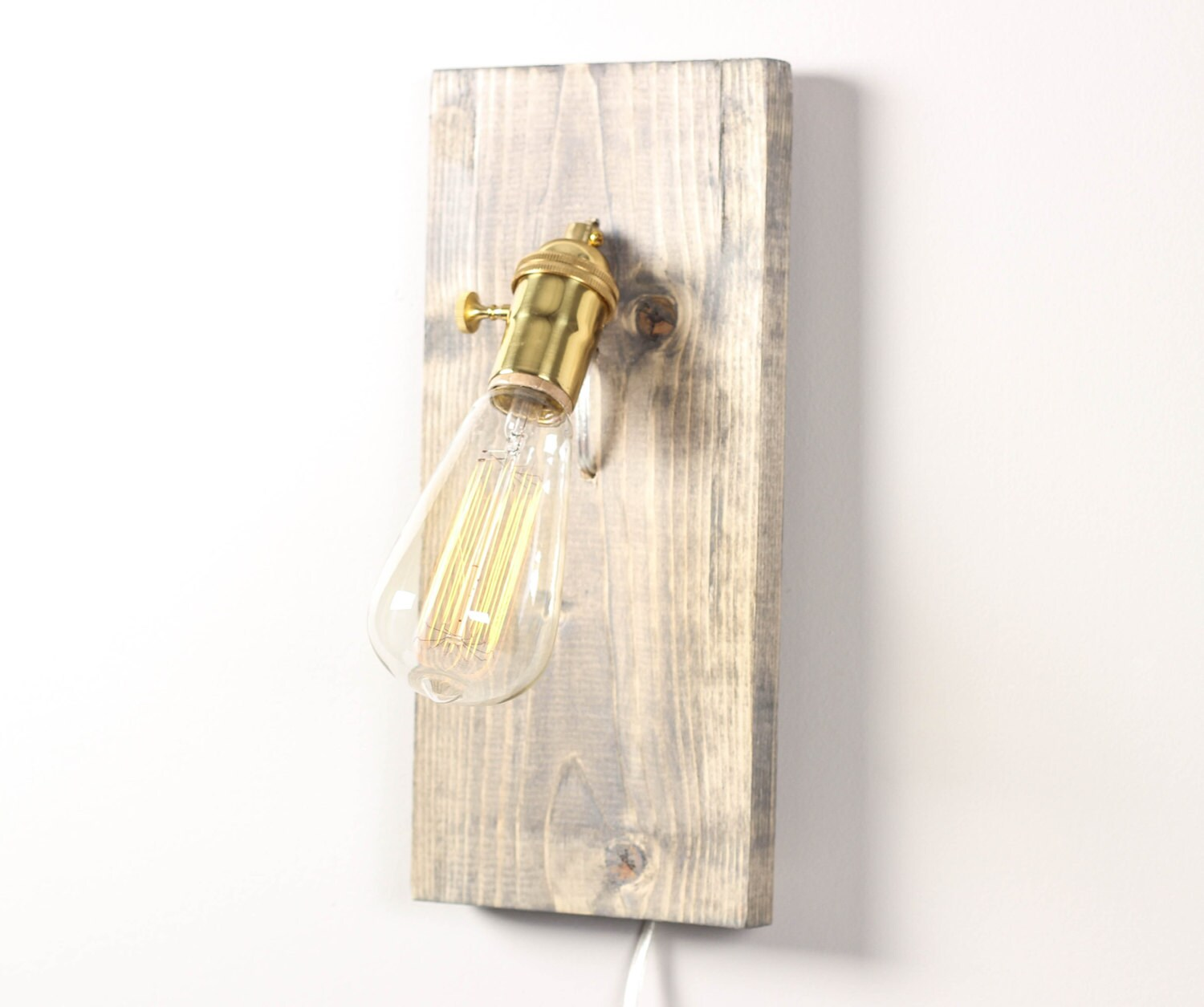 Rectangle Wall Sconce Wooden Wall Lamp Modern by WorleysLighting