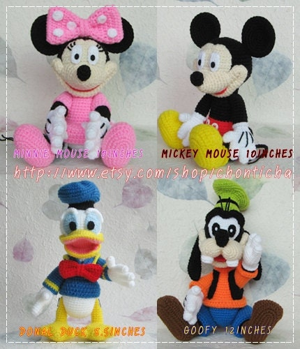 Amigurumi Free Pattern Hello Kitty : Mickey Mouse and the Gang PDF amigurumi crochet by Chonticha