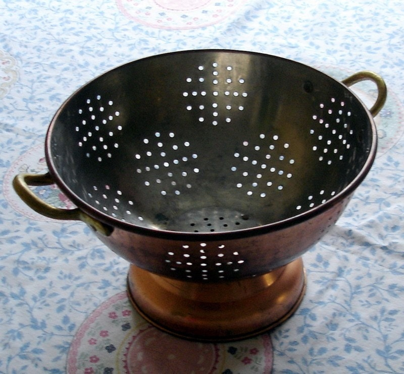 Vintage Copper Plated Colander