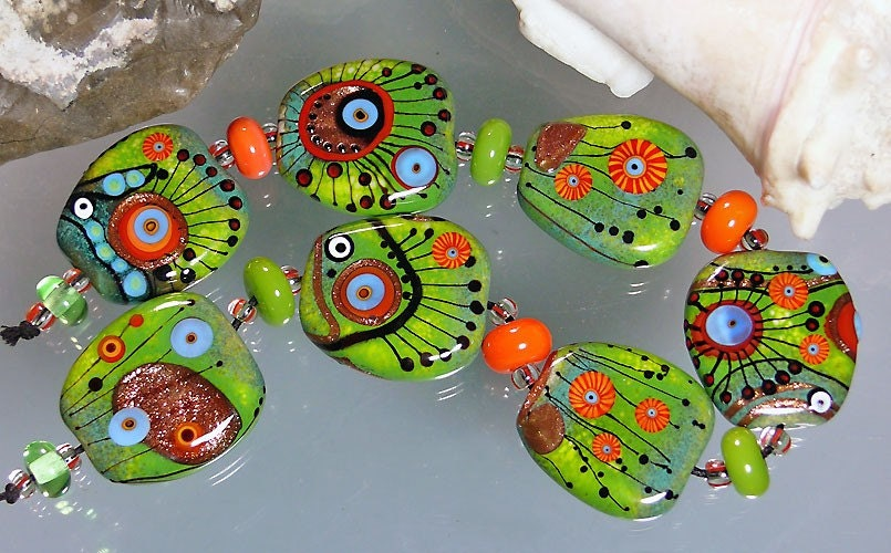 MICHOUS Lampwork Beads - Fresh-Cheerful-Juvenile