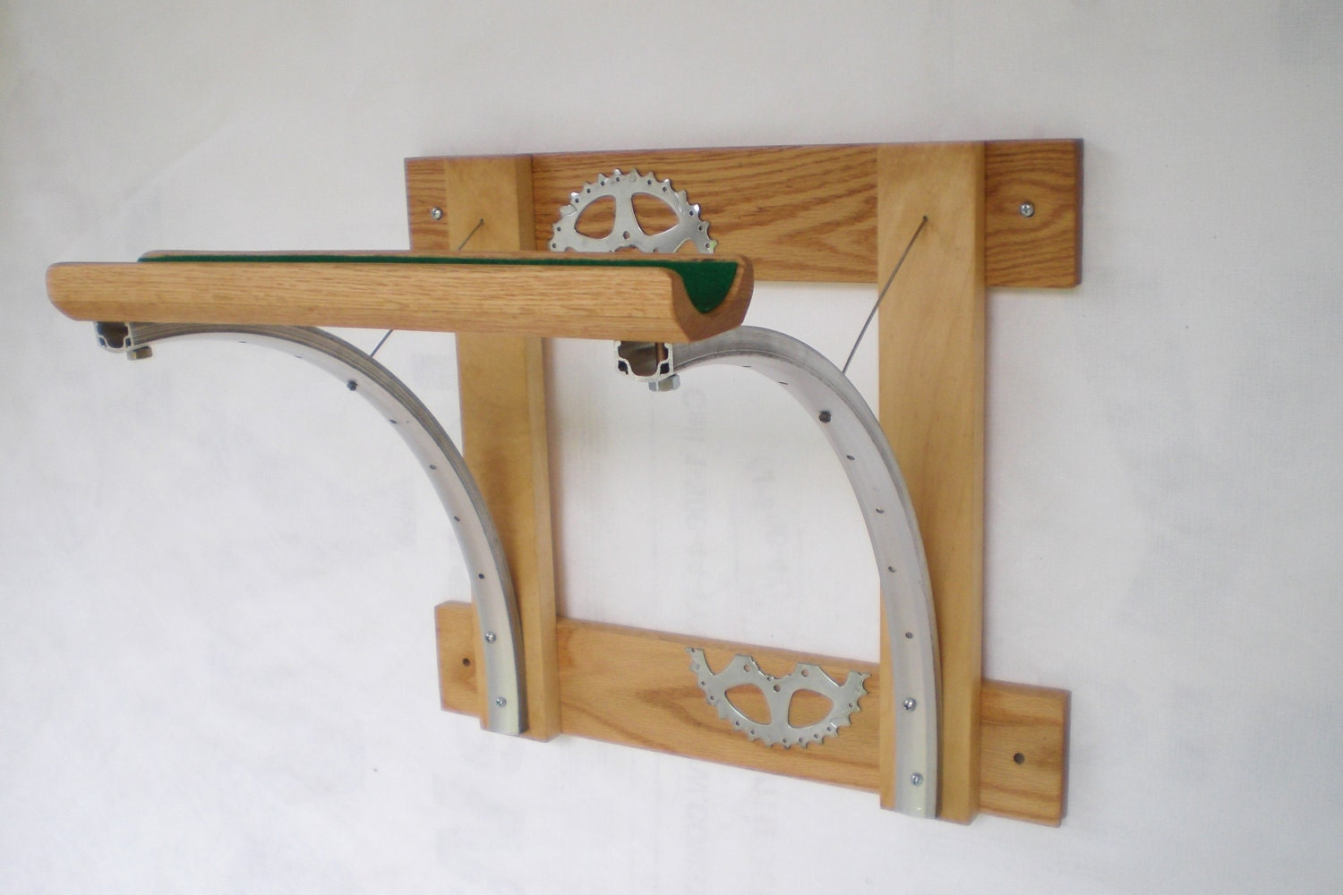 Bicycle Rack Reclaimed Wood And Recycled By Winterwomandesigns