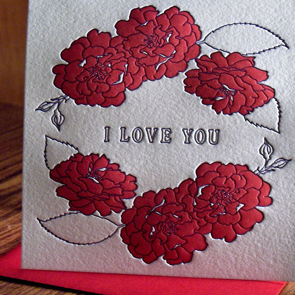 I Love You Roses Card