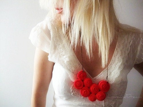 Passion - Fibre Art Bib Necklace