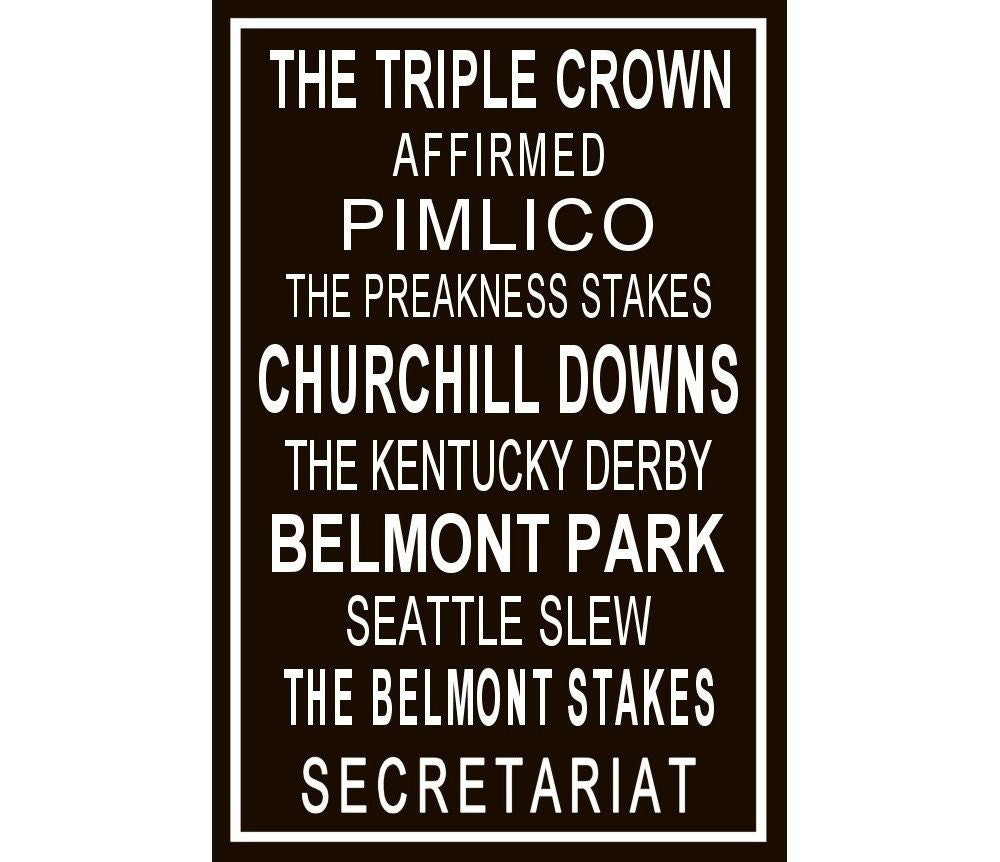 The Triple Crown BROWN (with  white border) - 20x30 Gallery Wrap Canvas